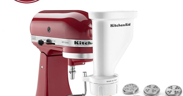 KitchenAid Mixer Pasta Press Stand-Mixer Attachment KPEXTA 6-pc...