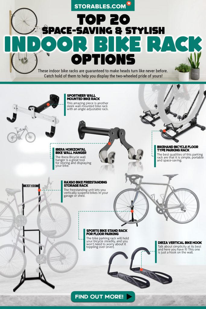 Ibera Bike Wall Mount Rack Stand Wall Holder Hook 45°Adjustable Storage Hanger
