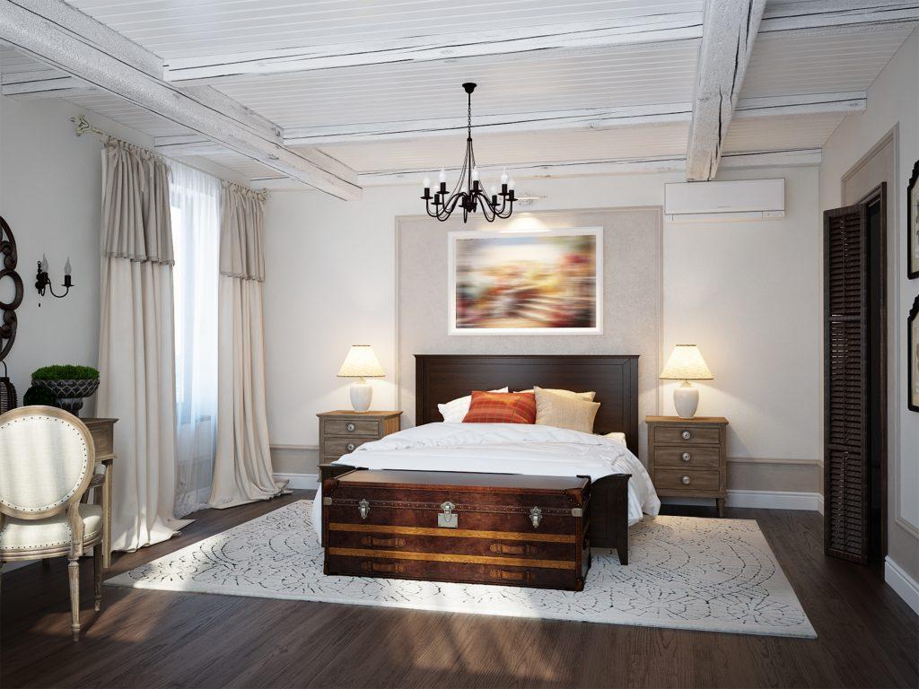 Spacious bedroom mediterranean style