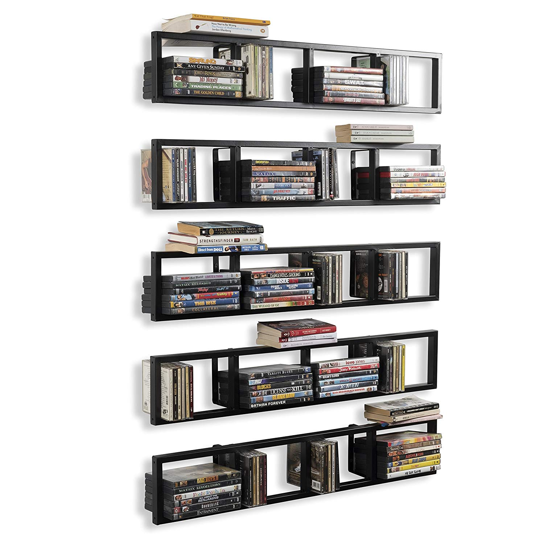 Wall Mount 34 Inch Media Storage Shelf