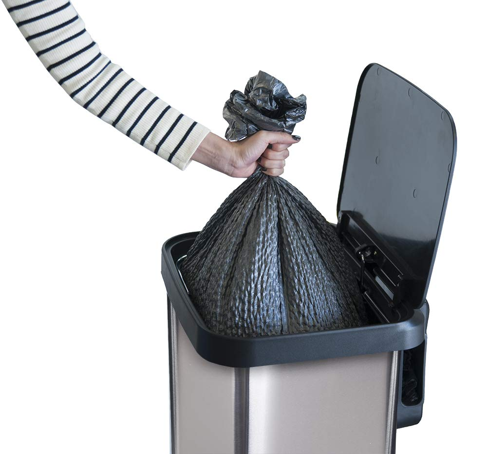 emptying habit, trash can size