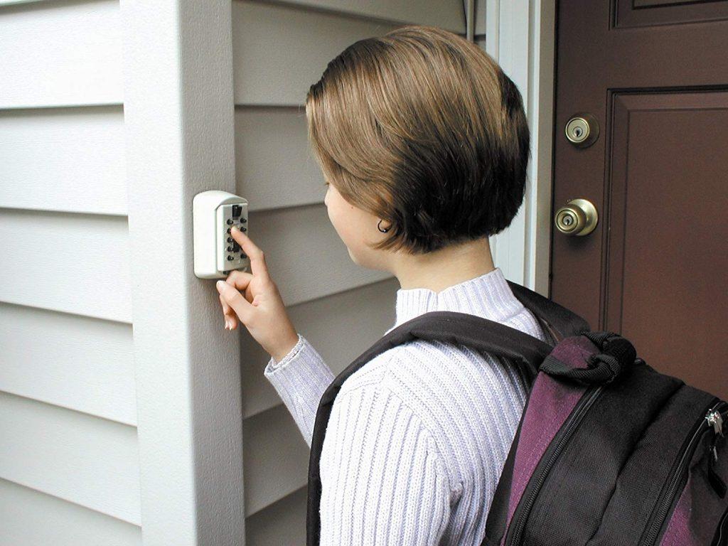girl at door