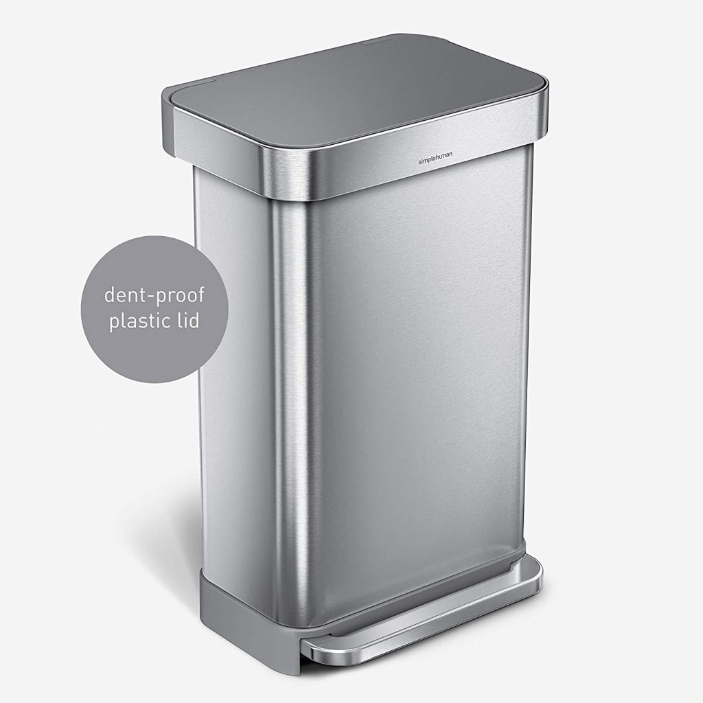 simplehuman 45 Liter Hands-free Trash Can