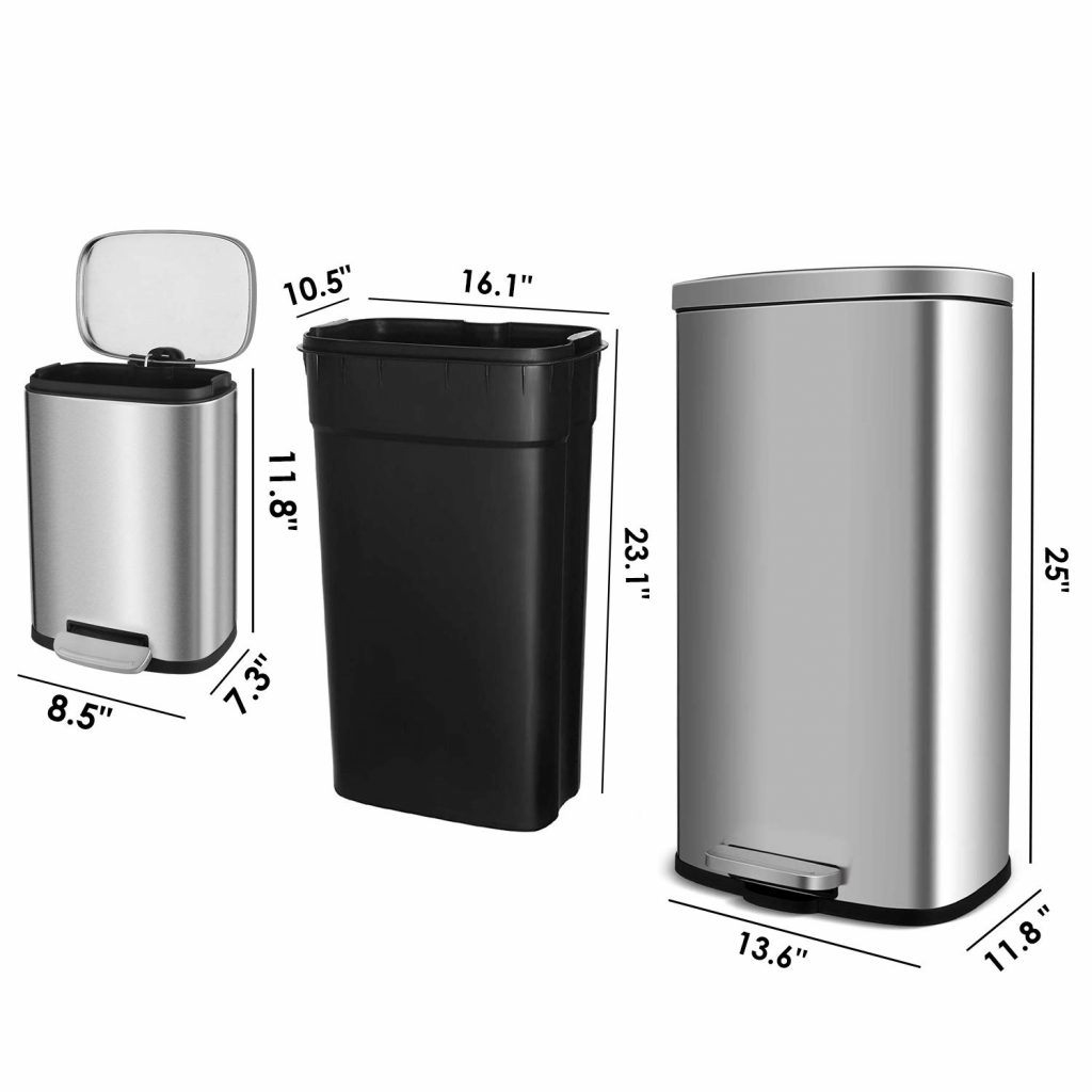 trash can size
