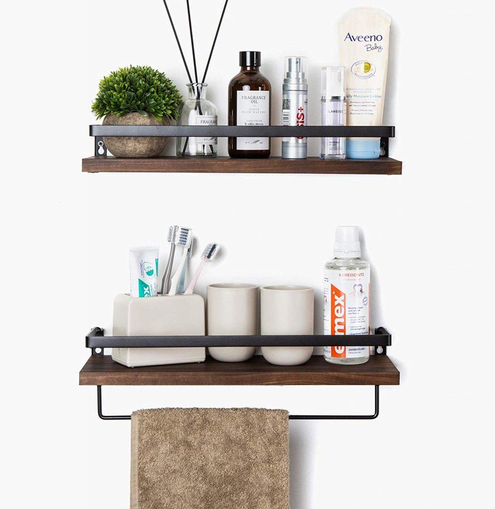 Floating shelf for tiny house storage ideas