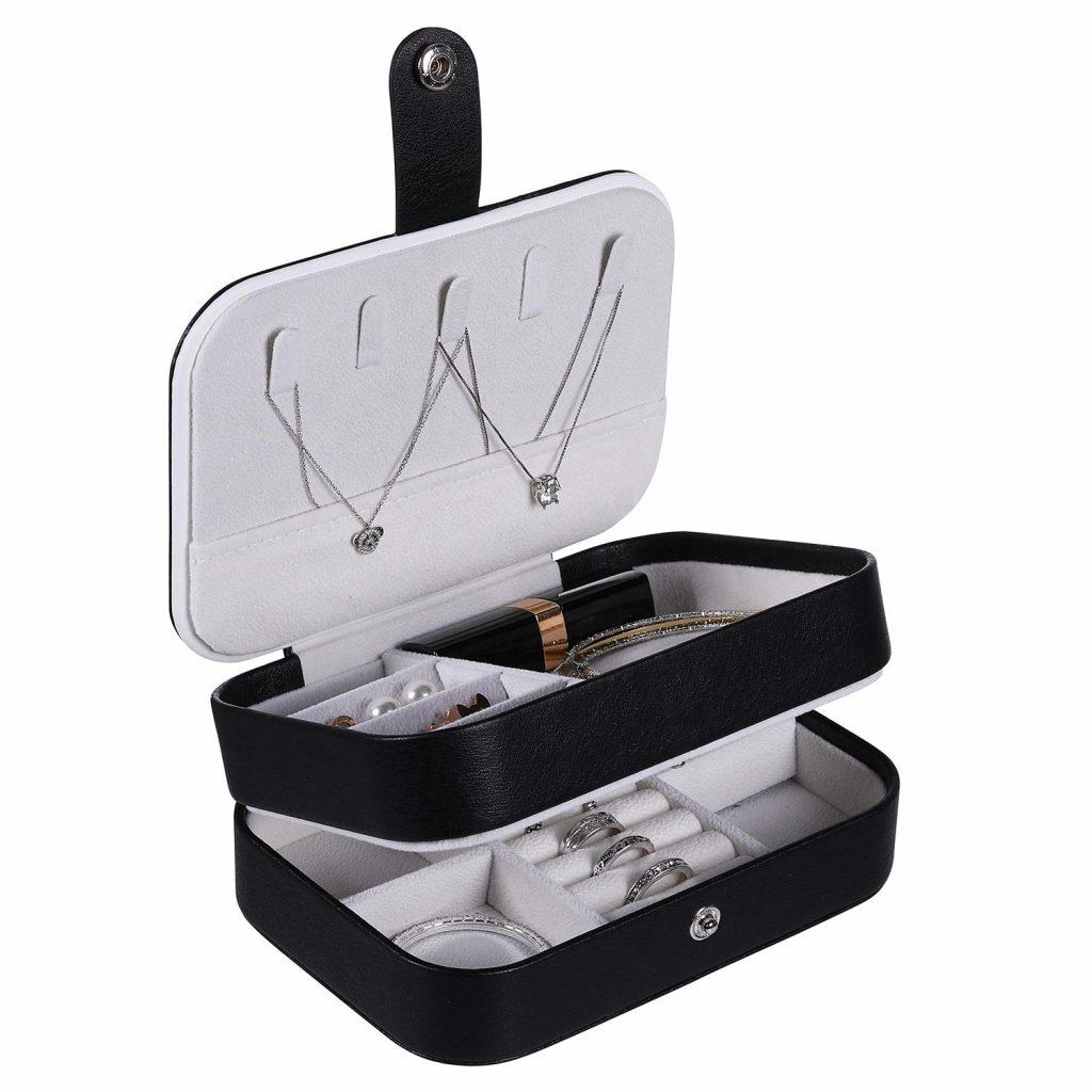 Travel jewelry storage box.