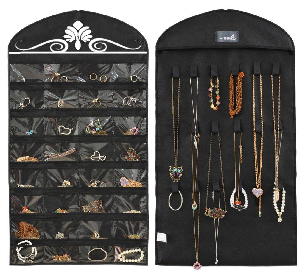 Hanging jewelry storage ideas