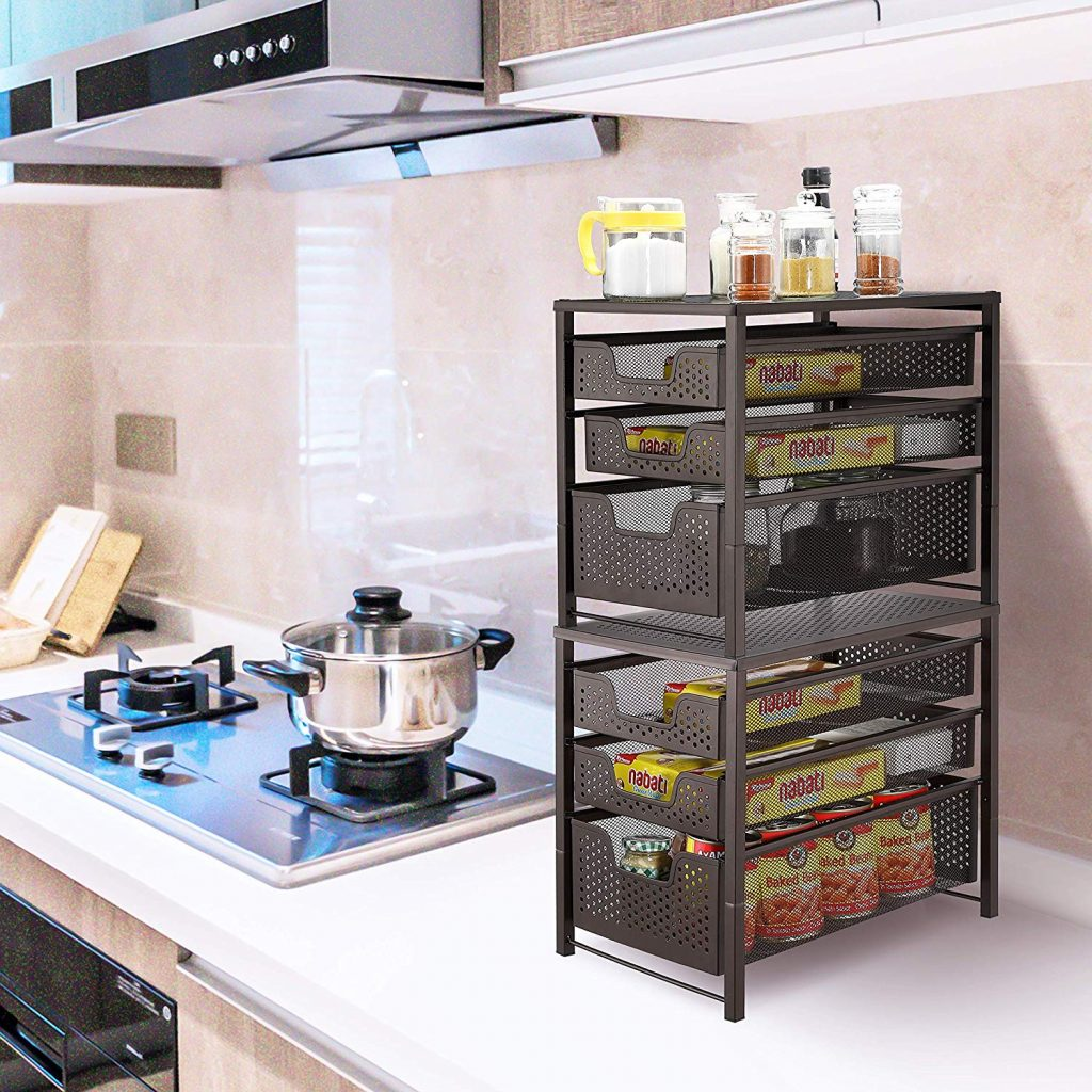 Sink Cabinet Organizer For Tiny House Storage Ideas