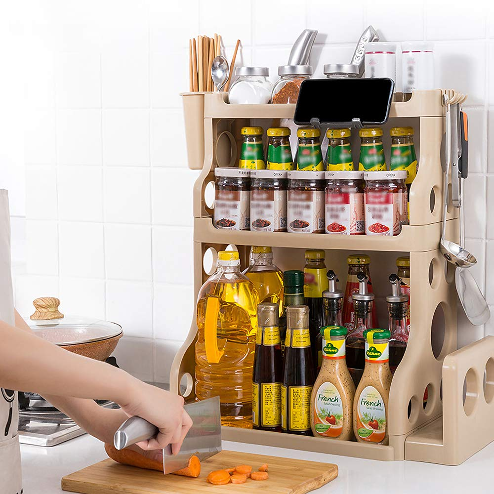 Spice Rack Kitchen Bathroom Countertop Storage Organizer