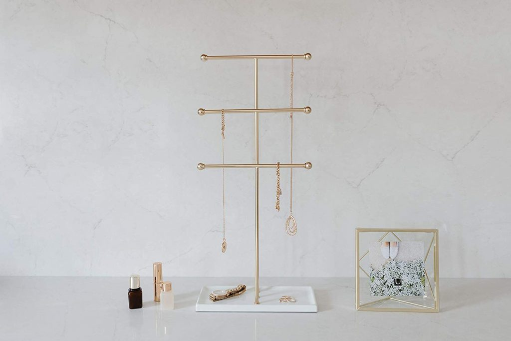 Hanging stand jewelry storage ideas