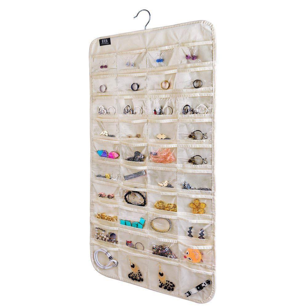 Transparant hanging jewlery organizer