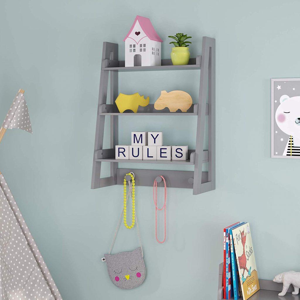 Wall shelf toy organizer