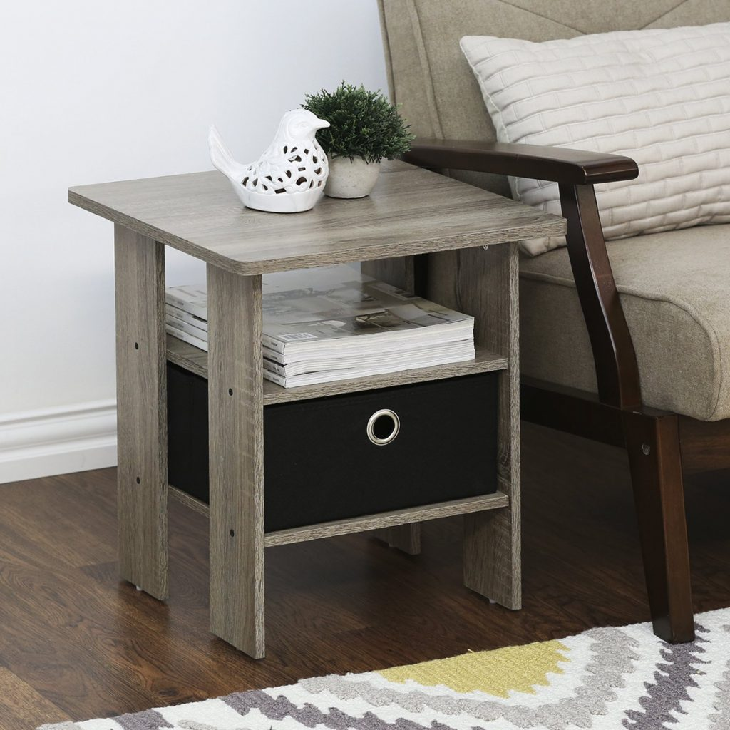 Table Nightstand for Tiny House Storage Ideas