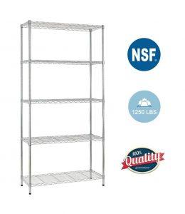 BestOffice 5-Shelf Wire Shelving Unit