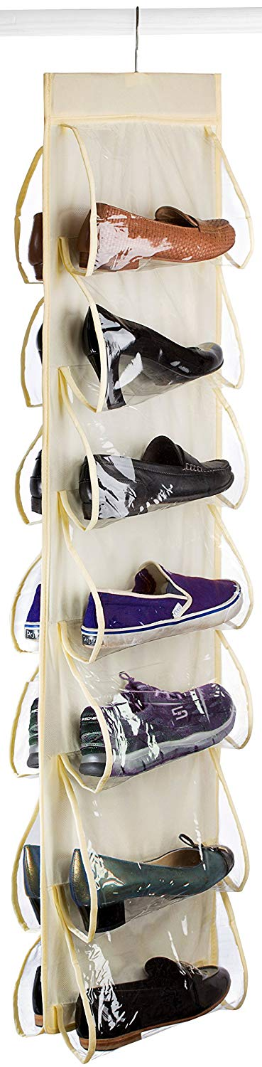 Clear Pocket Hanging Shoe Organizer