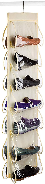 Clear Pocket Hanging Shoe Organizer