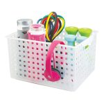 Clear Stacking Storage Baskets