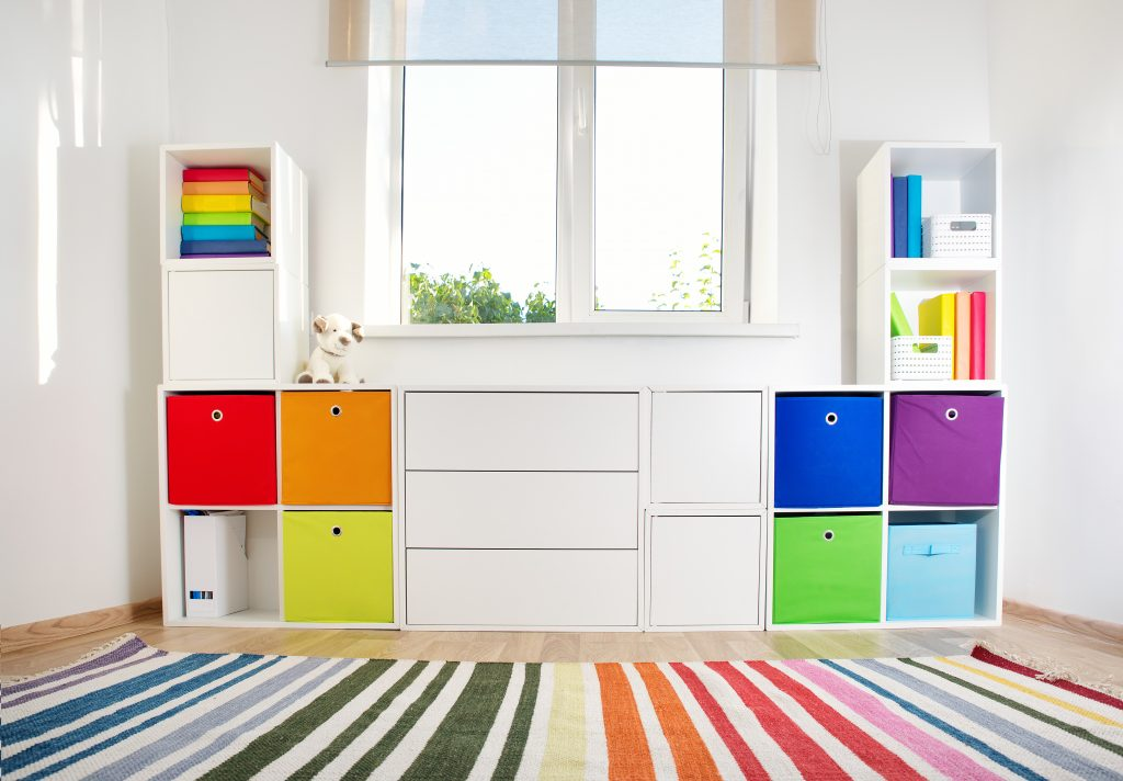 Colorful baskes for storage