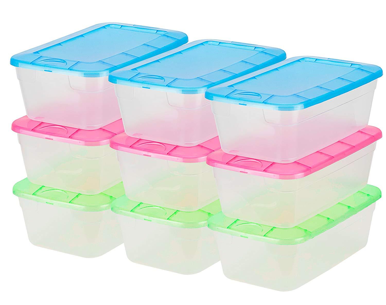 DecorRack Clear Plastic Shoe Boxes