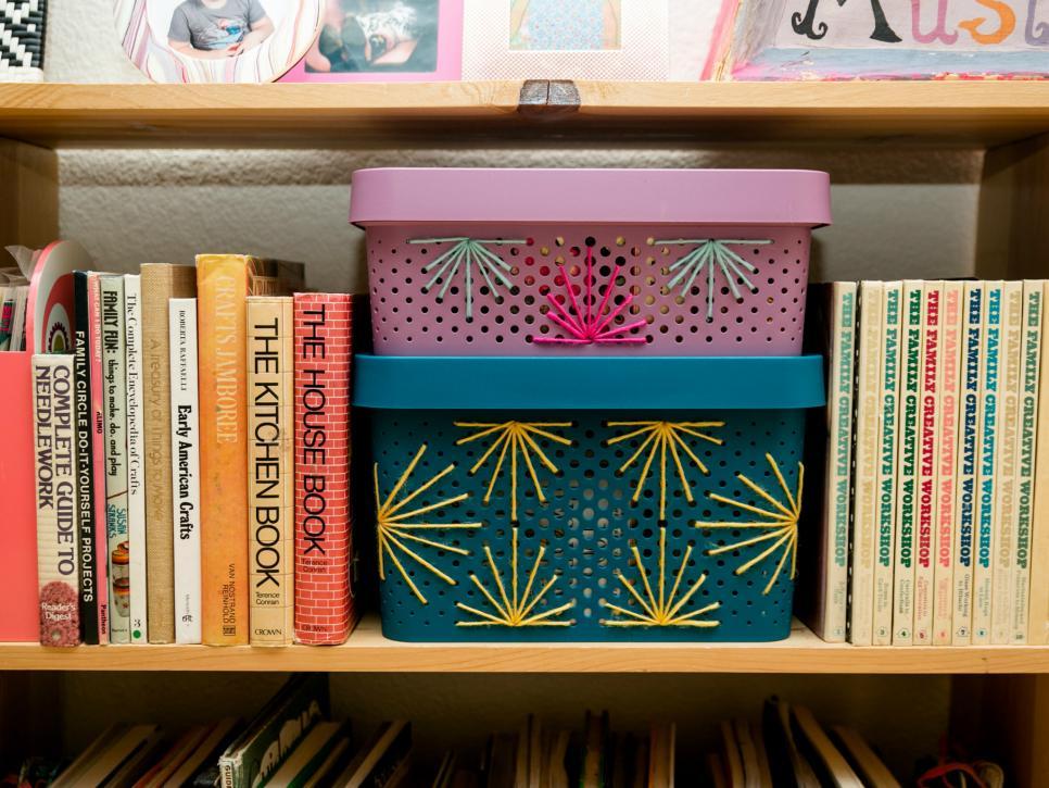 Decorate your plastic storage bins