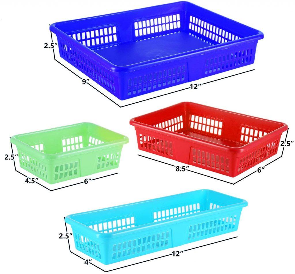 DilaBee Bright Plastic Organizer Bins (16 Pack) (2)