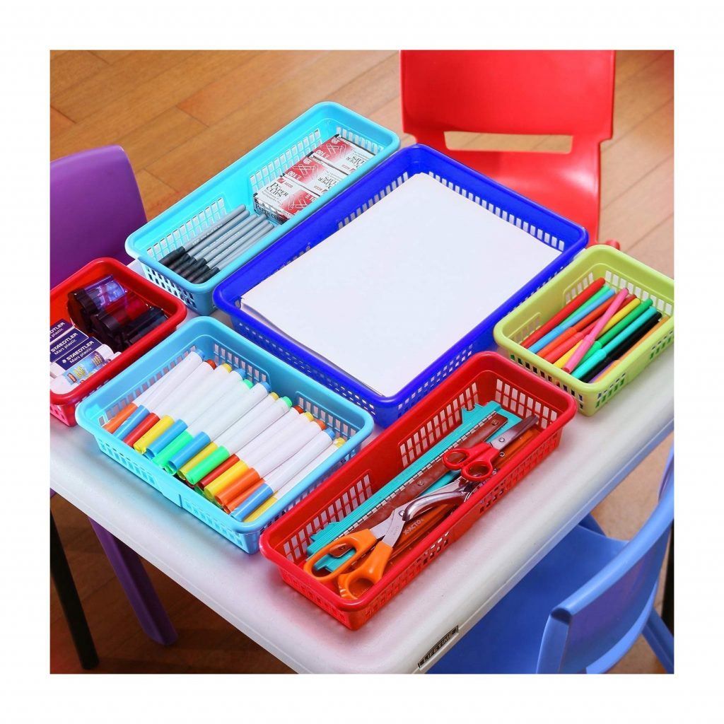 DilaBee Bright Plastic Organizer Bins (16 Pack) (3)
