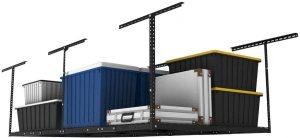FLEXIMOUNTS overhead garage storage rack (black)