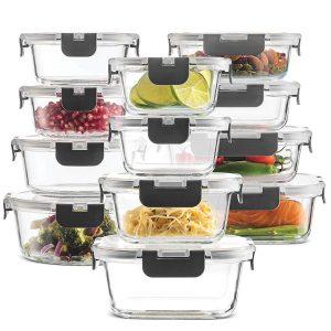 FineDine 24-pc Glass Food Storage Containers Set