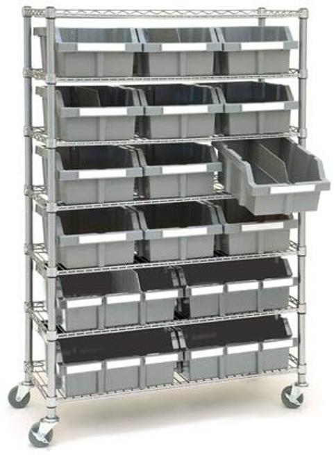 grey bins for garage storage ideas