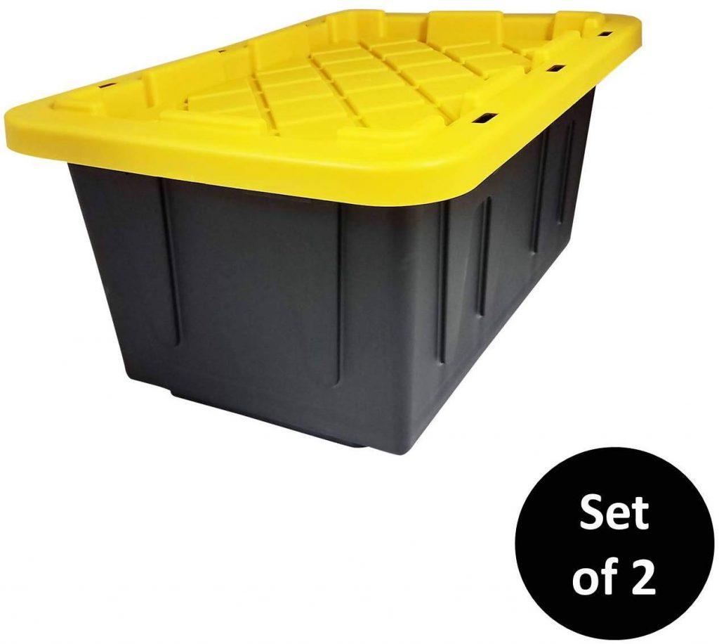 HOMZ 15 Gallon Durabilt Storage Container, 2-Pack (1)