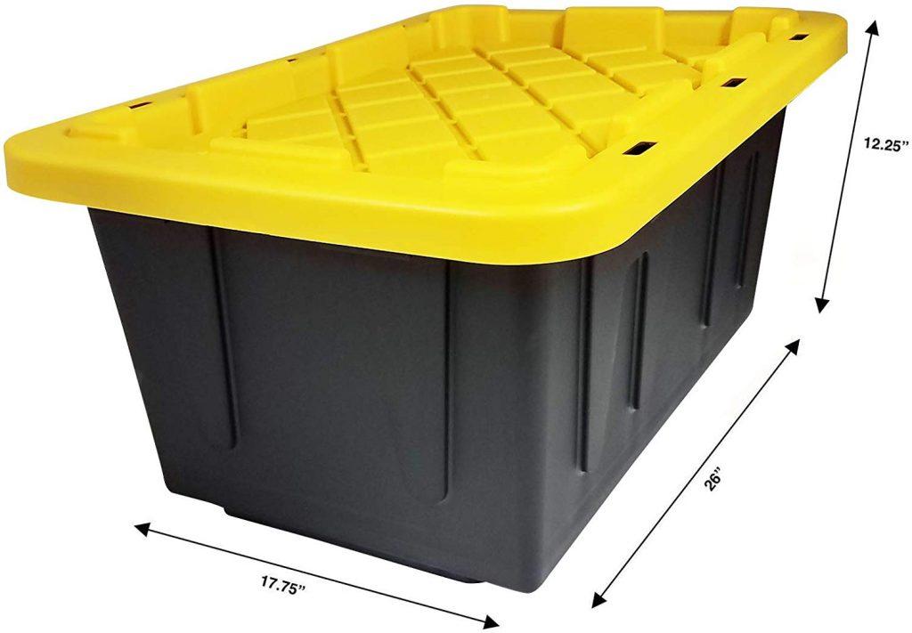 HOMZ 15 Gallon Durabilt Storage Container, 2-Pack (2)