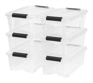 IRIS 12-Quart Stack & Pull Box (6 Pack) (2)