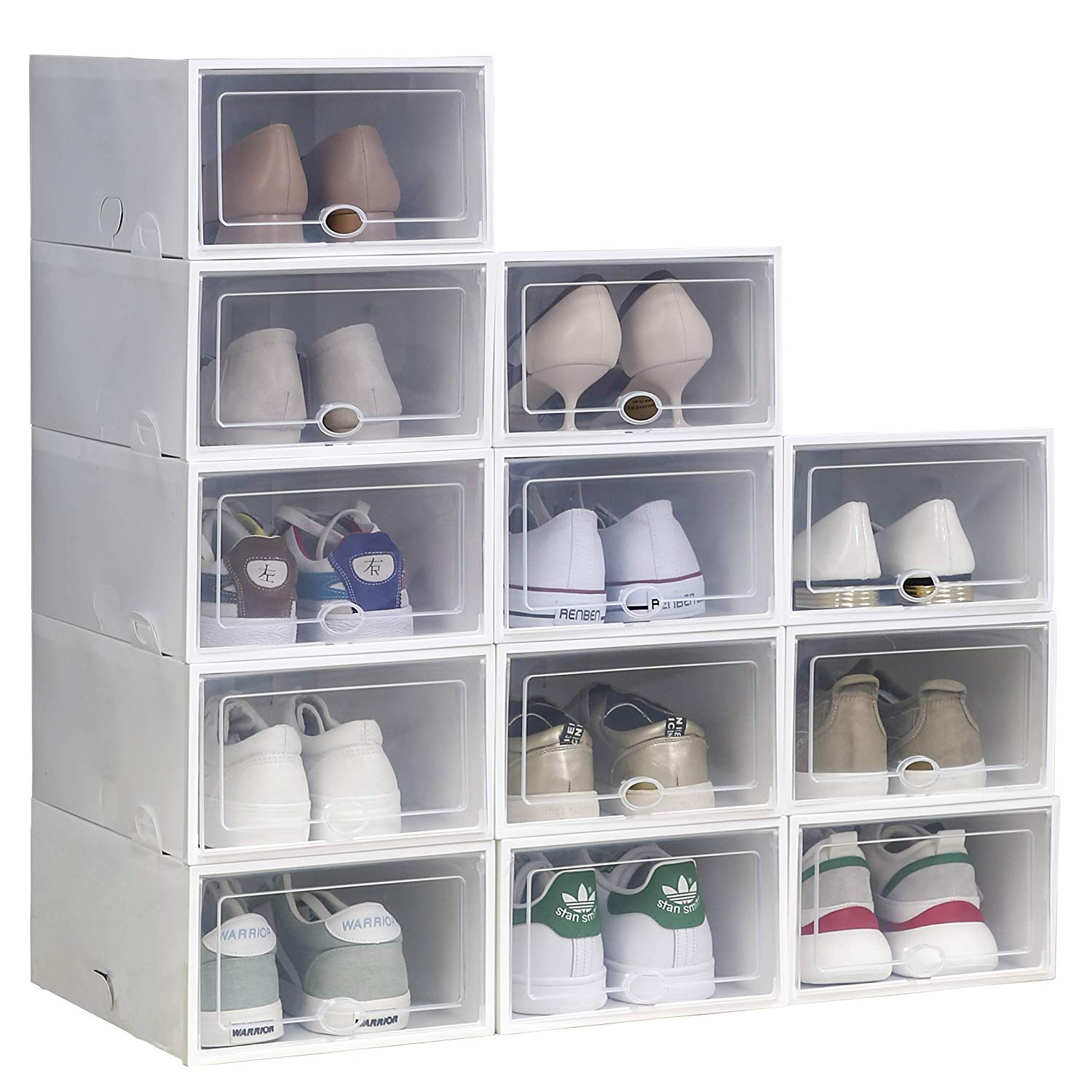 IRONLAND White Stackable Shoe Box