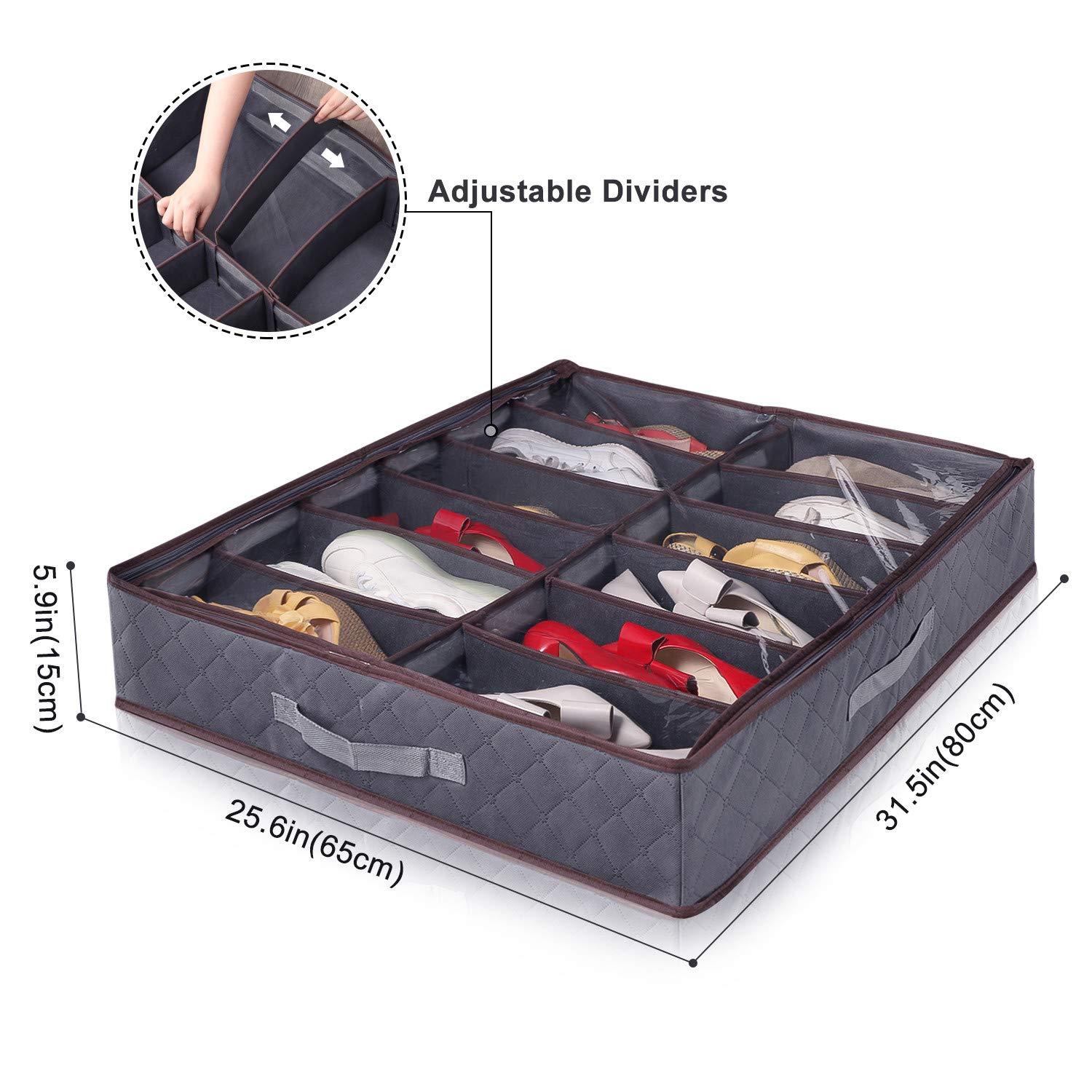 Lifewit Shoe Storage Organizer with Adjustable Dividers