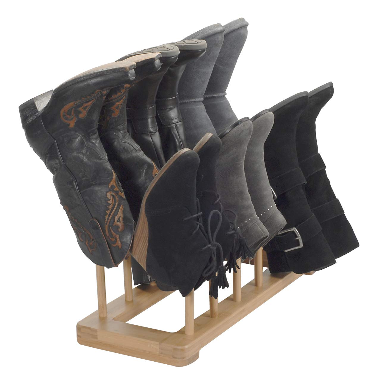 MobileVision Bamboo Free Standing Boot Rack