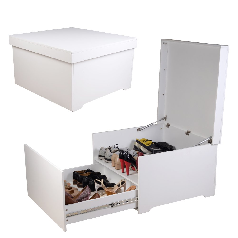 Organizedlife Large White Shoe Box Cabinet