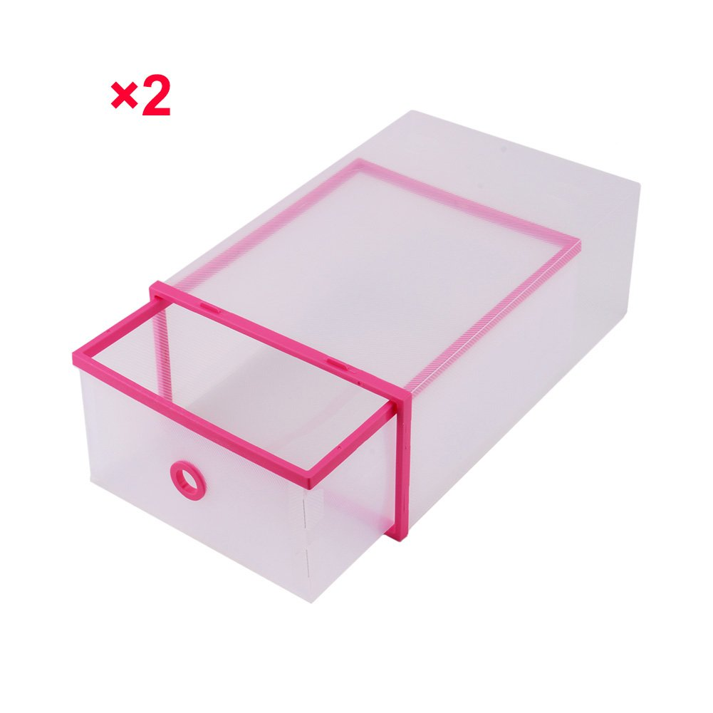 Portable Transparent Closet Organizer Shoe Case