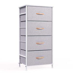 4-drawer fabric dresser