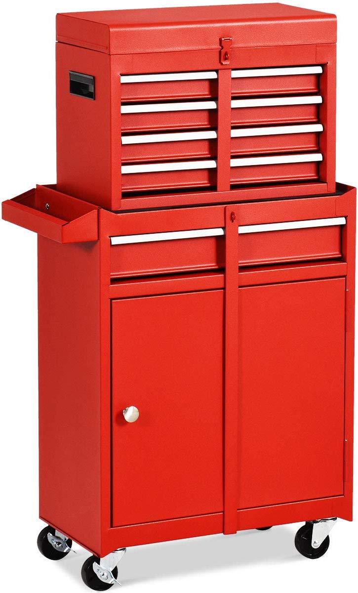 Red garage storage ideas
