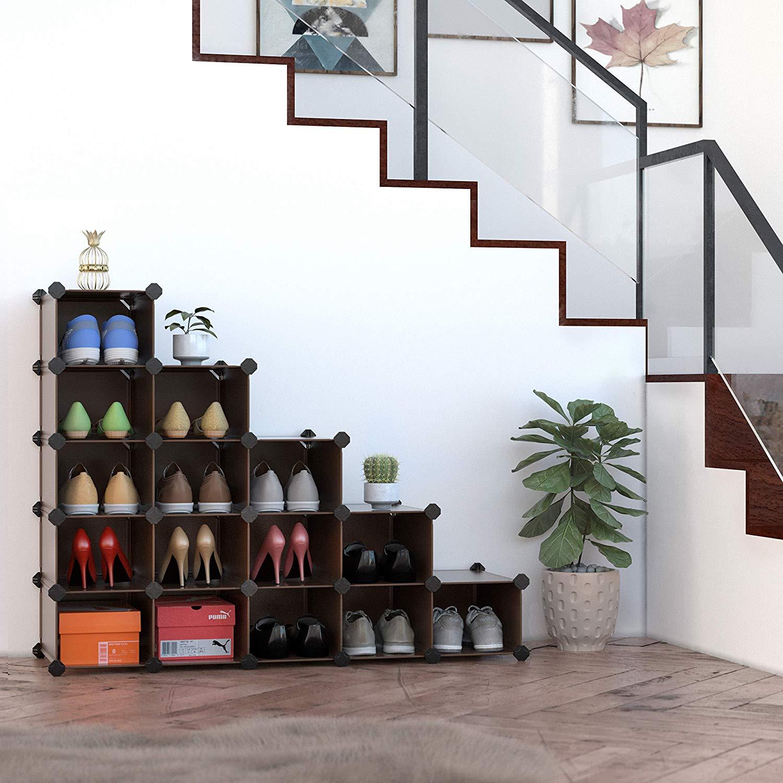 SONGMICS Plastic Shoe Storage Organizer
