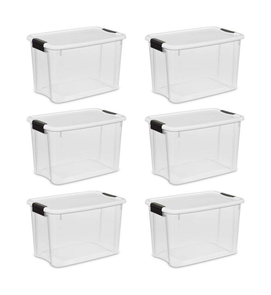STERILITE 30 Quart Ultra Latch Box (6 boxes) (1)