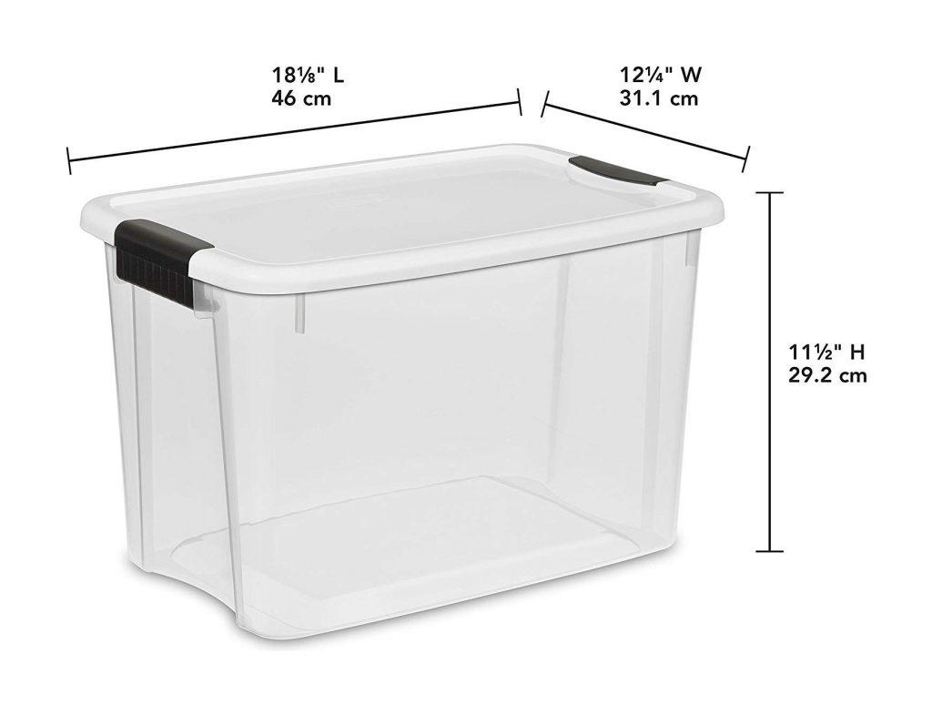 STERILITE 30 Quart Ultra Latch Box (6 boxes) (2)