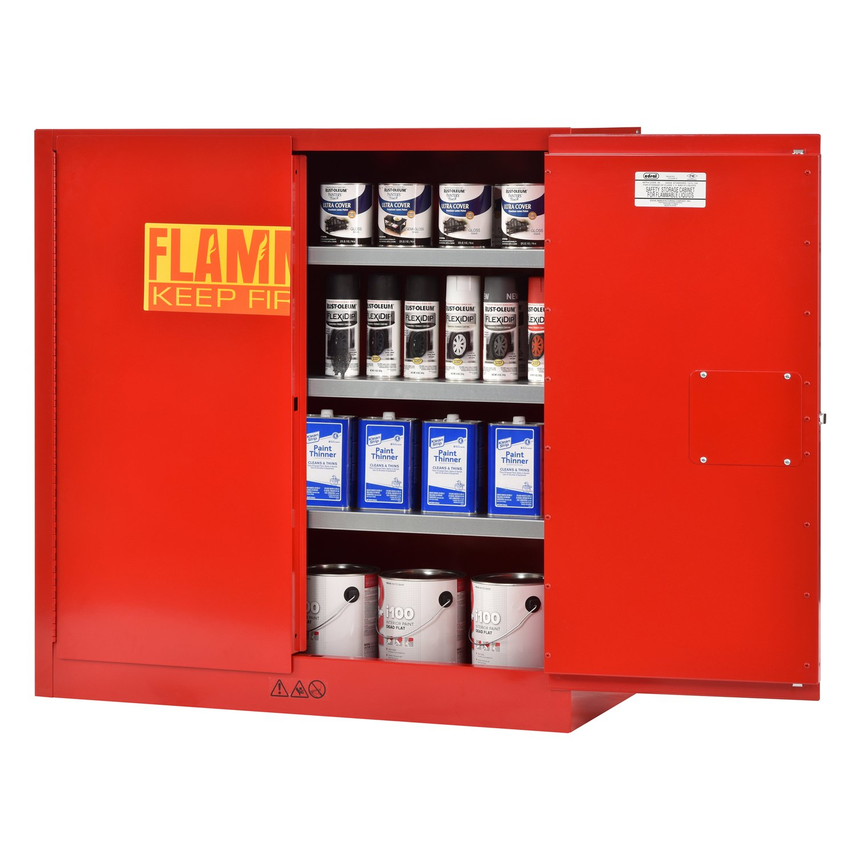Sandusky Lee Red Steel Cabinet 2