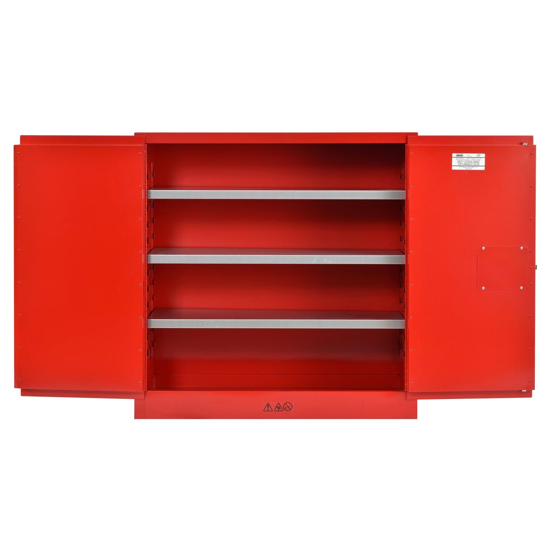 Sandusky Lee Red Steel Cabinet 3