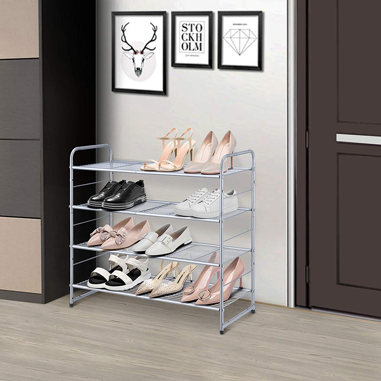 Simple Trending 4-Tier Shoe Rack