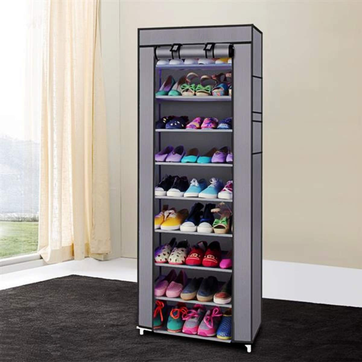SoSo-BanTian1989 10 Tiers Shoe Cabinet with Dustproof Cover