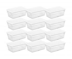 Sterilite 5.7L Storage Box (Pack of 12)