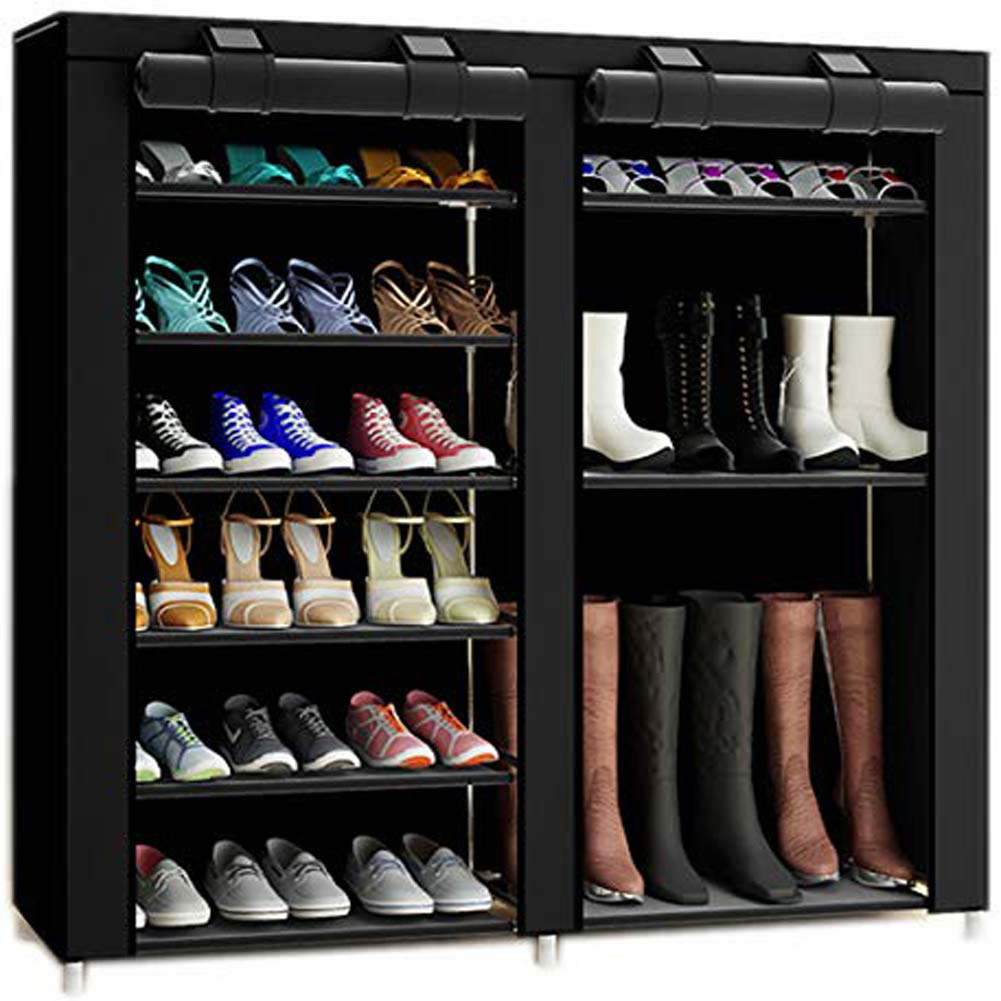 TXT&BAZ Portable Boot and Shoe Rack with Fabric cover