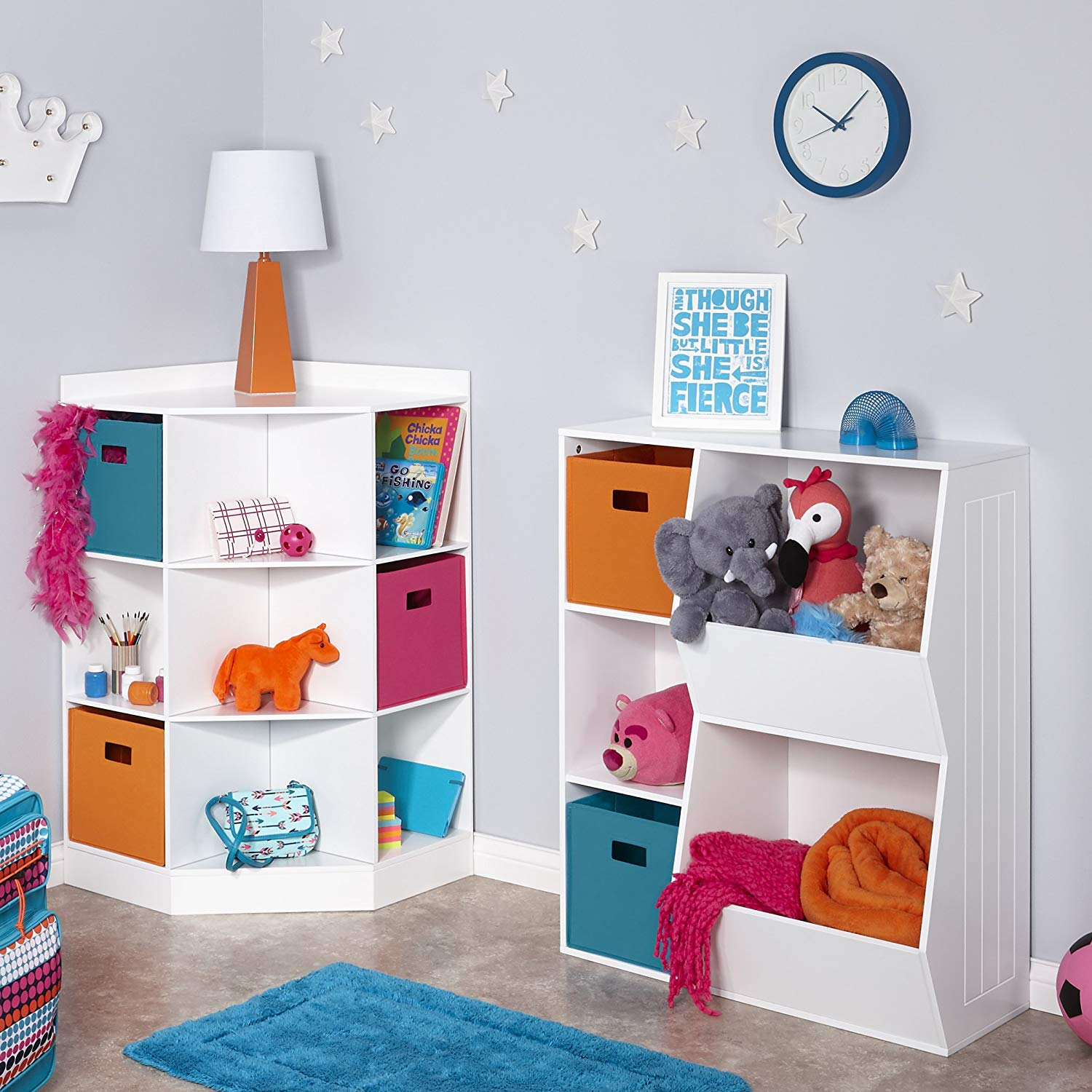 toy storage in room
