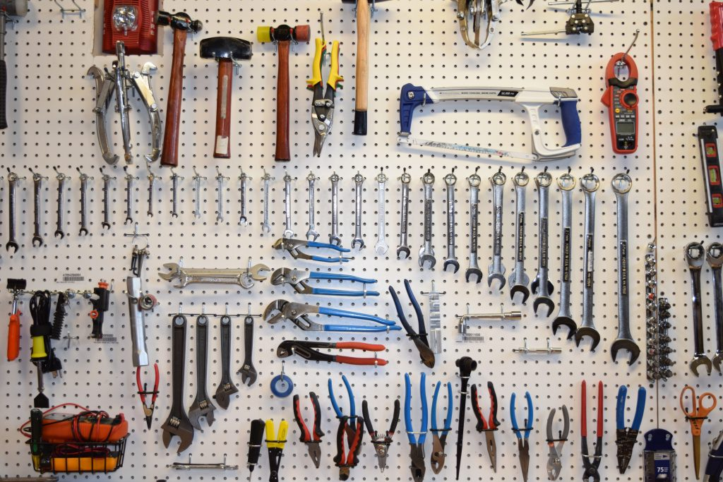 Hanging Tools On Pegboard